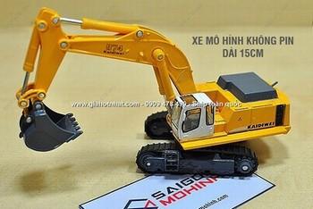 Giá Hot Nhất - MS: 9498 - MO HINH XE SAT 1/ 87 15CM XE DAO CONG TRINH NHO - KDW
