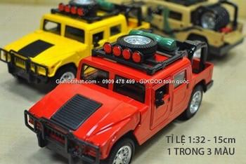Giá Hot Nhất - MS:9720 - XE MO HINH SAT 1/32 HUMMER H1 DIA HINH - Chon 1 trong 3 mau