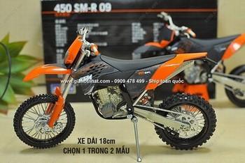 Giá Hot Nhất - MS: 8718 / 8719 - MO HINH XE TI LE 1/12 - 16CM - MOTO DIA HINH KTM 450 SERIE