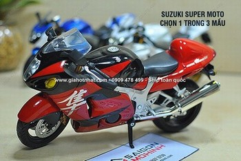 Giá Hot Nhất - MS: 8743 / 8745 - MO HINH 1/12 18CM SUZUKI SUPER MOTO SERIE JOYCITY - Chon 1 trong 2 mau xe co thiet ke nhu that voi nhung du