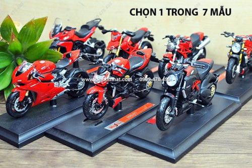 Giá Hot Nhất - MS: 8810 - MO HINH SAT 1/18 (12cm) DONG DUCATI SERIE - Chon 1 trong 8 mau xe Ducati