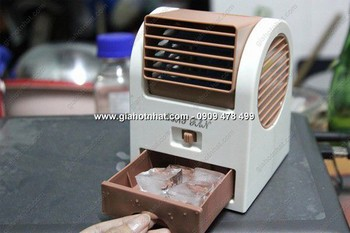 Giá Hot Nhất - MS 6111 - QUAT HOP CO KHAY DA LANH MINI - cam giac sang khoai mat ruoi
