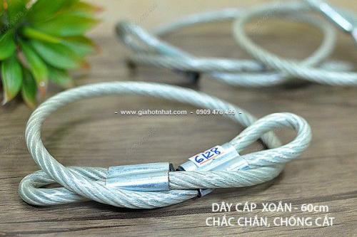 Giá Hot Nhất - MS: 6128 - DAY KHOA CAP XOAN BOC NHUA CHAC CHAN 60CM