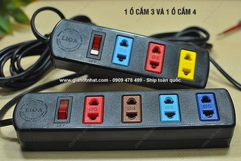 Giá Hot Nhất - MS: 6097 - COMBO 2 O CAM DIEN 3M CHINH HANG LIOA CO CONG TAC