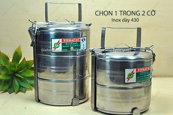 Giá Hot Nhất - MS: 6394 - HOP DUNG INOX CAO CAP DUONG KINH 12CM 2 NGAN