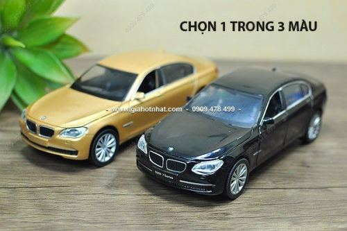 Giá Hot Nhất - MS 9632 - XE MO HINH SAT TI LE 1: 32 BMW 750I - HOTWORKS