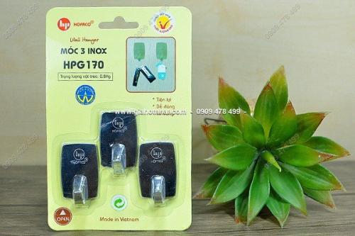 Giá Hot Nhất - MS 6094 - BO 3 MOC INOX CAO CAP DAN TUONG CO TRUNG, dan chac nhu dinh, nhanh chong.