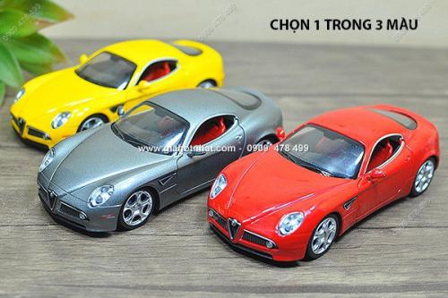 Giá Hot Nhất - MS: 9603 - XE MO HINH TI LE 1: 32 SIEU XE ALFA ROMEO 8C