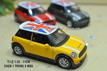 Giá Hot Nhất - MO HINH SAT 1/32 MINI COOPER NAP SON CO ANH - ENGLISH FLAG (MS:9760 ) - Chon 1 trong 3 mau thu vi