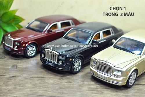 Giá Hot Nhất - MS: 8558 - Xe Mo Hinh Ti Le 1/24 - Kieu Dang ROLCE ROYLES - Chon 1 trong 3 mau