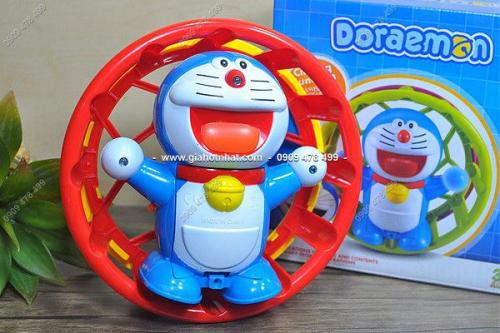 Giá Hot Nhất - MS 9389 - DO CHOI DORAEMON TRONG VONG XOAY DEN NHAC DEP MAT