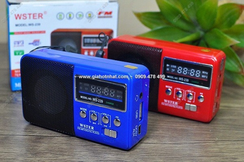 Giá Hot Nhất - (MS: 5096) - RADIO NHO GON KEM LOA USB THE NHO WS239