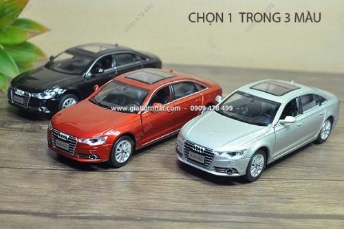 Giá Hot Nhất - MS: 9615 - XE MO HINH SAT TI LE 1:32 AUDI A6 - Chon 1 trong 3 mau co ban