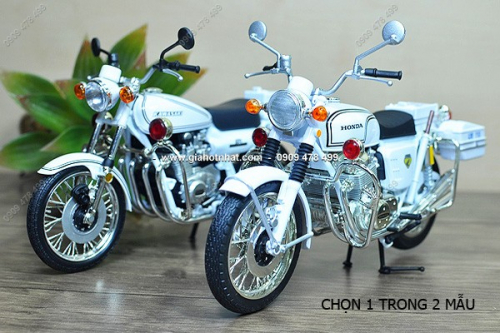 Giá Hot Nhất - (MS: 8692 - 8697) - XE MO HINH TI LE 1/12 MOTO CANH SAT CLASSIC POLICE