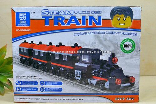 MS: 9059 - HỘP LẮP RÁP XE LỬA HƠI NƯỚC STEAM TRAIN