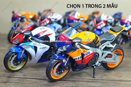 Giá Hot Nhất - MS 8677/ 8678 - XE MO HINH TI LE 1:12 MOTO CBR1000 KIEU DANG DAC BIET REPSOL / HRC - JOYCITY