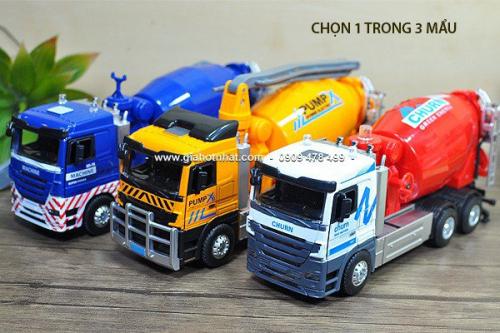Giá Hot Nhất - (MS: 9589 - 9590 - 9591) - XE MO HINH TI LE 1/32 (22CM) - XE BON BE TONG
