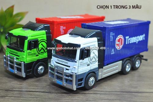 Giá Hot Nhất - (MS: 9585 - 9586) - XE MO HINH TI LE 1/32 - 22CM XE TAI CHO HANG