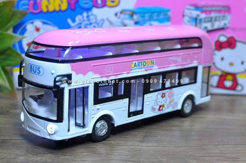 Giá Hot Nhất - (MS: 9966) - XE MO HINH BUS 20CM KITTY DOREAMON