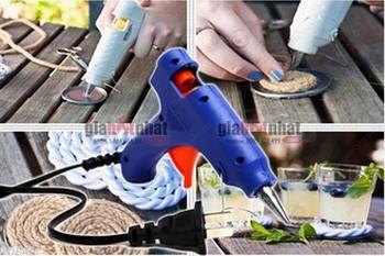 Giá Hot Nhất - MS: 6242 - SUNG BAN KEO VA 10 CAY KEO SILICON (14cm) - giup ban dan cac vat dung nhanh chong