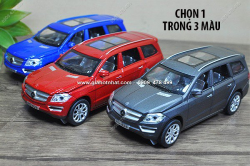 Giá Hot Nhất - MS: 9816 - XE MO HINH SAT TI LE 1/32 - MERCEDES GL500 - mau xe mo full 4 cua va capo