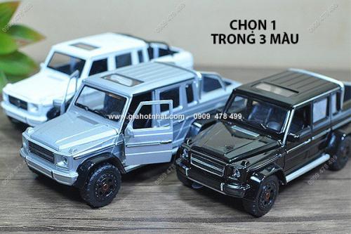 Giá Hot Nhất - MS: 9819 - XE MO HINH SAT TI LE 1/32 -XE DIA HINH MERCEDES G63 6X6 - SHENGHUI - Chon 1 trong 3 mau