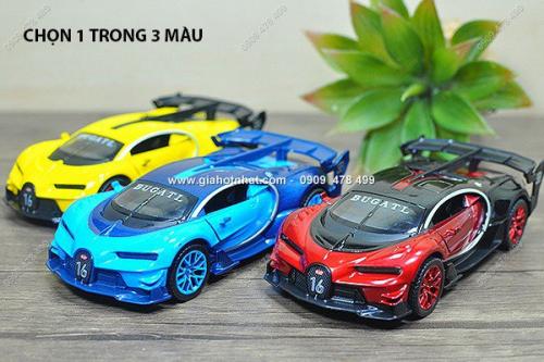 Giá Hot Nhất - MS: 9651 - XE MO HINH SAT 1/32 SIEU XE KIEU DANG BUGATTI VISION GT - chon 1 trong 3 mau