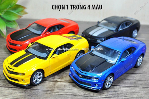Giá Hot Nhất - MS: 9666 - XE MO HINH SAT TI LE 1/32 - CHEVROLET CAMARO SS