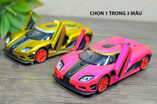 Giá Hot Nhất - MS: 9833 - XE MO HINH SAT TI LE 1/32 - KOENIGSEGG CCX DA QUANG