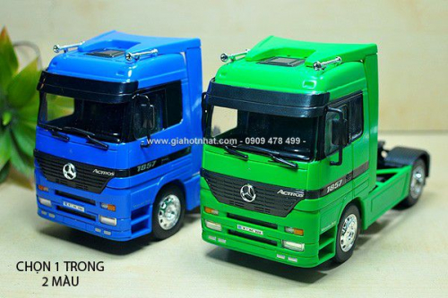 Giá Hot Nhất - MS: 9960 - XE MO HINH SAT TI LE 1/32 - 18CM - DAU KEO MERCEDES ACTROS - WELLY
