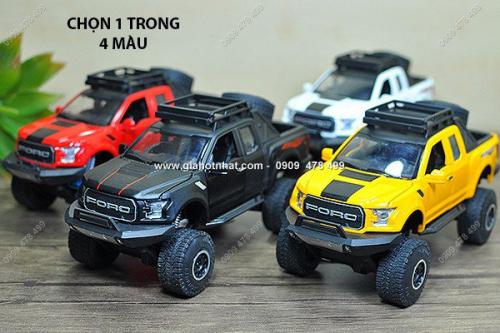 Giá Hot Nhất - MS: 9708 - XE MO HINH SAT TI LE 1/32 - VUA DIA HINH FORD F150 OFFROAD - MINIAUTO - Chon 1 trong 4 mau