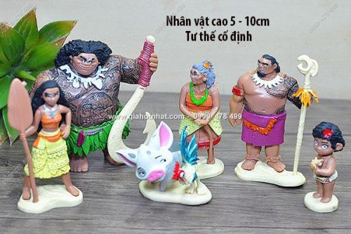 Giá Hot Nhất - MS: 7960 - BO 7 NHAN VAT NHUA NHO - GIA DINH TIEN SU MOANA
