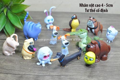Giá Hot Nhất - MS: 7987 - BO 14 NHAN VAT NHO - DANG CAP THU CUNG - SECRET LIFE OF PET