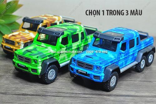 Giá Hot Nhất - MS: 9818 - XE MO HINH SAT 1/32 - 22cm SIEU XE DIA HINH MERCEDES G63 BRABUS 6X6