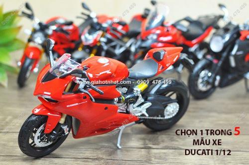Giá Hot Nhất - MS: 8618 - XE MO HINH TI LE 1/12 - MOTO DUCATI - MAISTO
