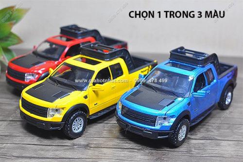 Giá Hot Nhất - MS: 9704 - MO HINH 1/32 - XE BAN TAI FORD RAPTOR CO DEN AM THANH