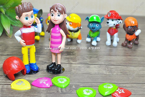 Giá Hot Nhất - MS: 7952 - MO HINH NHAN VAT - BO 8 NHAN VAT CHO CUU HO - PAW PATROL