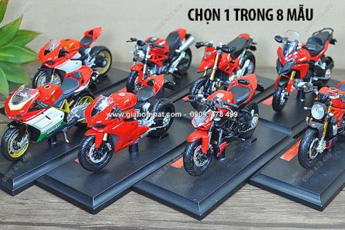 Giá Hot Nhất - MS: 8789 - XE MO HINH TI LE 1/18 - MOTO DUCATI SERIE