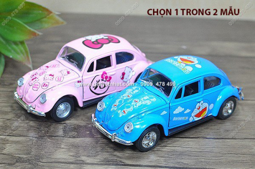 Giá Hot Nhất - MS: 9968 / 9970 - XE MO HINH SAT TI LE 1/36 - XE HOAT HINH DE THUONG MICKEY KITTY