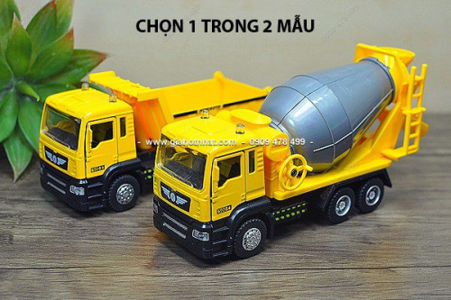Giá Hot Nhất - MS: 9985 - XE MO HINH SAT TI LE 1/32 - 18CM XE TAI CONG TRINH MINIAUTOS - XE BON / BEN
