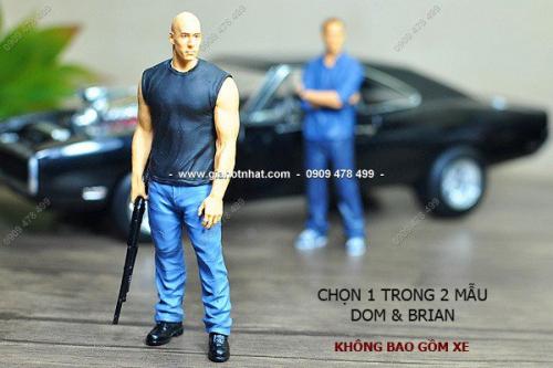 Giá Hot Nhất - MS: 7819 / 7820 - MO HINH NHUA 1/18- SON THU CONG NHAN VAT FAST FURIOUS DOM / BRIAN