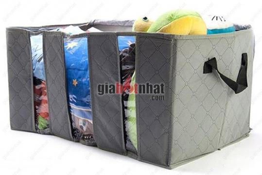 Túi vải 3 ngăn với chất liệu vải không dệt giúp bạn bảo quản đồ đạc