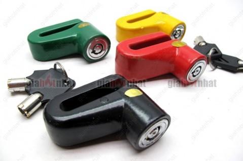 Ổ khóa đĩa chống trộm xe máy bằng hợp kim chịu lực, không gỉ sét