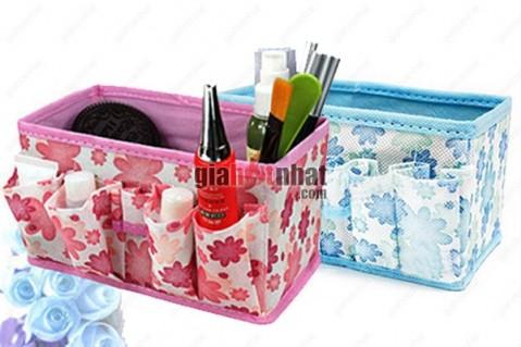 Bộ 2 túi vải giúp bảo quản và sắp xếp gọn mỹ phẩm