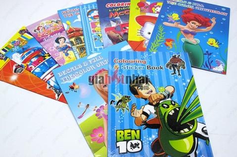 Combo 5 quyển tranh tô màu cho bé trổ tài làm họa sĩ