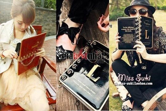 Túi xách hình cuốn sổ xinh xắn kiểu dáng quai xách hoặc đeo vai sang trọng,...