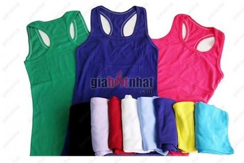 Trẻ trung, năng động với Combo 3 áo thun ba lỗ nhiều màu sắc