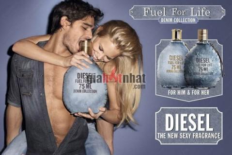 Nước hoa Diesel kết hợp bởi da, hổ phách, tuyết tùng và tinh chất của chanh,...