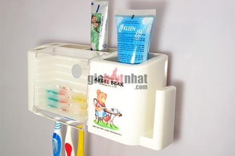 Giá bàn chải tiện dụng nhựa cao cấp giữ và bảo quản bàn chải đánh răng...