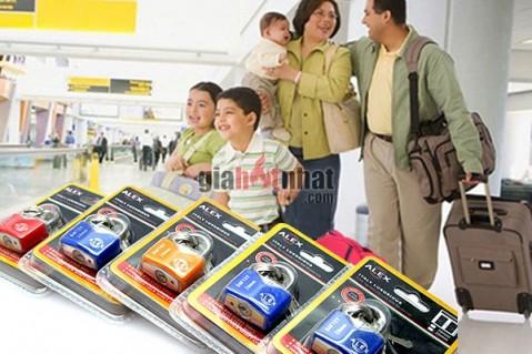 Combo 2 ổ khóa mini ALEX Có thể khóa tất cả túi xách, cặp, ba lô du lịch, sổ...